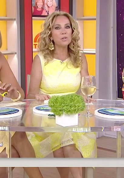 Wornontv Kathie S Yellow Lace Dress On Today Kathie Lee