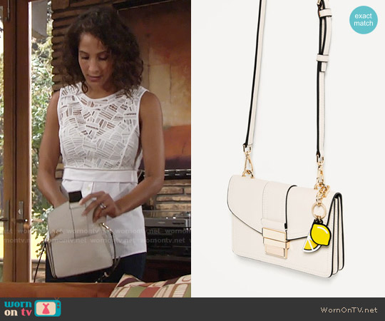 Zara Mini Crossbody Bag worn by Lily Winters on The Young & the Restless