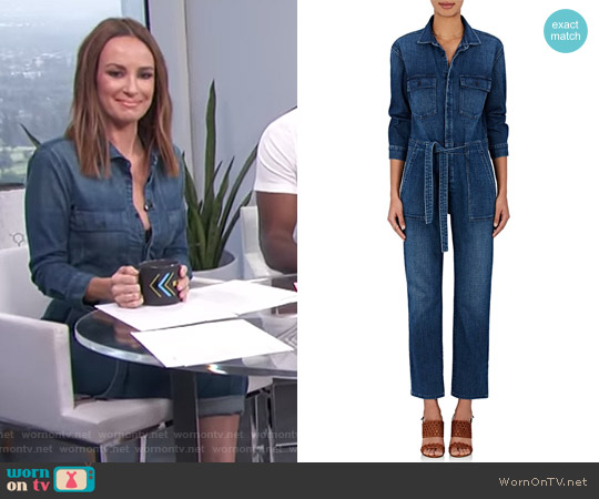 Elsa Denim Belted Jumpsuit by 3x1 worn by Catt Sadler on E! News