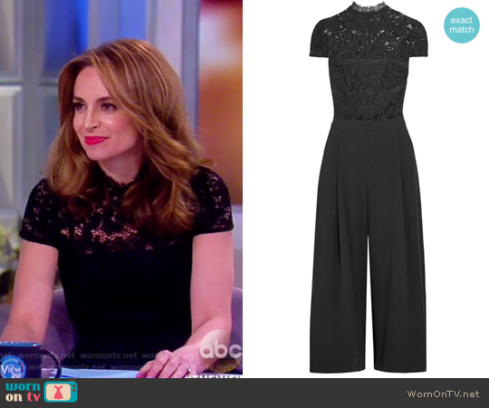 Elysia stretch-lace and crepe jumpsuit by Alice + Olivia worn by Jedediah Bila on The View