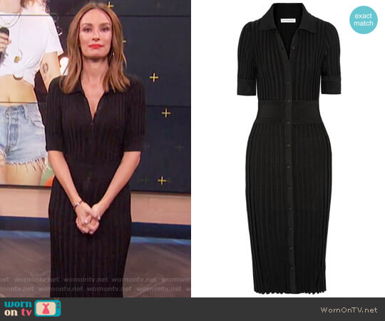 Olivia ribbed stretch-knit dress by Altuzarra worn by Catt Sadler  on E! News