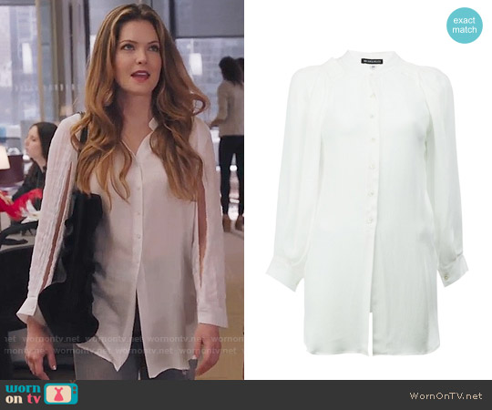 Ann Demeulemeester Slit Sleeve Shirt worn by Sutton (Meghann Fahy) on The Bold Type