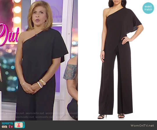 Crepe One Shoulder Jumpsuit by Adrianna Papell worn by Hoda Kotb on Today