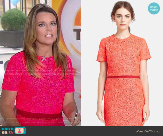 'Thompson' Crop Top by A.L.C. worn by Savannah Guthrie on Today