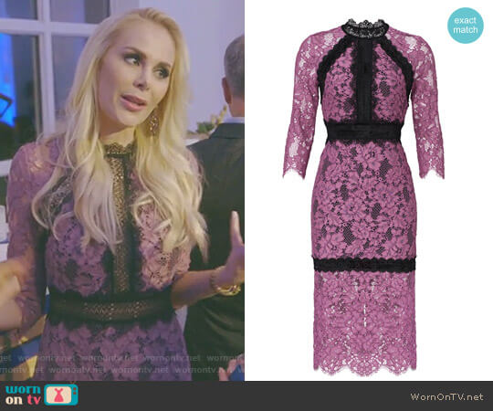 Orchid Marisa Dress by Alexis worn by Kameron Westcott on The Real Housewives of Dallas