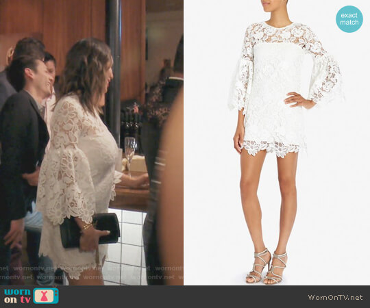 Bell Sleeve Lace Dress by Alexis worn by Kelly Dodd on The Real Housewives of Orange County