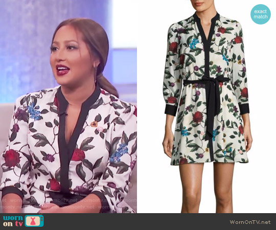Brooklynn Floral Dress by Alice + Olivia worn by Adrienne Houghton on The Real