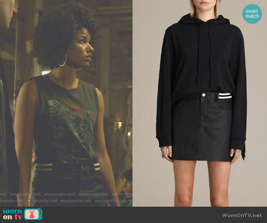 Holbeck Rib Skirt by All Saints worn by Maia Roberts on Shadowhunters