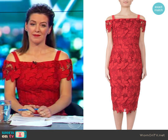 Cherry Lace Dress by Anthea Crawford worn by Gorgi Coghlan  on The Project