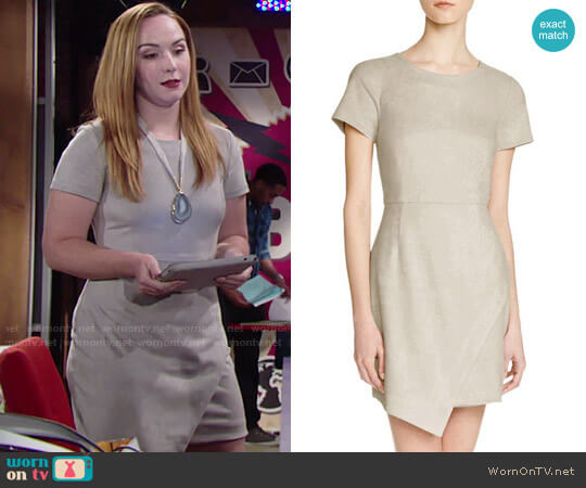 Aqua Faux Suede Dress worn by Mariah Copeland (Camryn Grimes) on The Young & the Restless