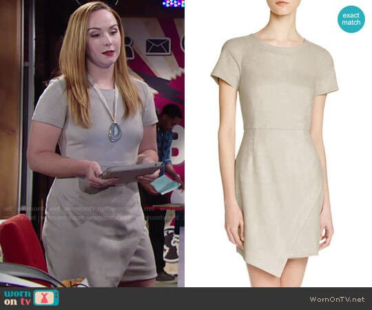 Aqua Faux Suede Dress worn by Camryn Grimes on The Young & the Restless