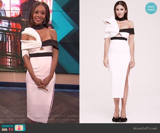 The Lana Dress by Asilio worn by Zuri Hall on E! News