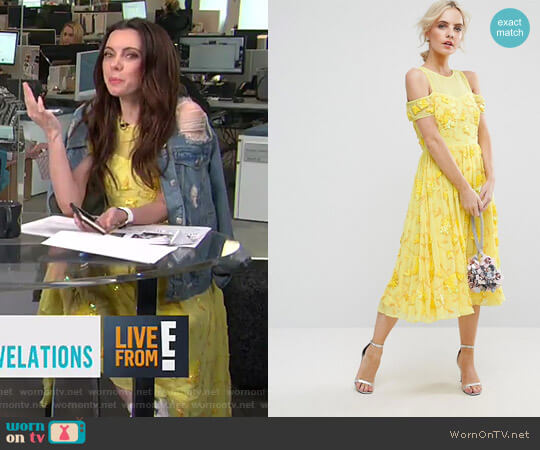 Bright Embellished Cut Out Midi Dress by ASOS worn by Melanie Bromley on E! News