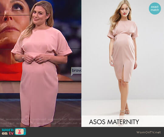 Smart Dress with Split Front by Asos worn by Carissa Loethen Culiner on E! News