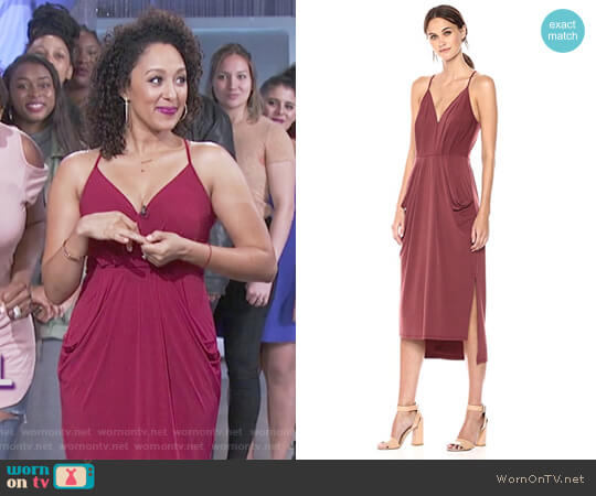 Faux Wrap Dress by BCBGeneration worn by Tamera Mowry on The Real