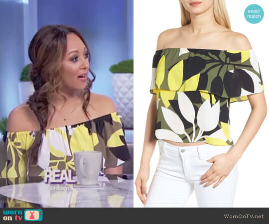 Cueva Cuba Floral Print Top by Bailey 44 worn by Tamera Mowry on The Real