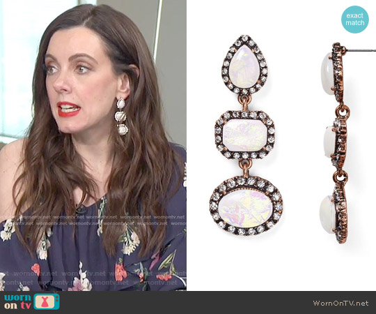 Duster Drop Earrings by Baublebar worn by Melanie Bromley on E! News