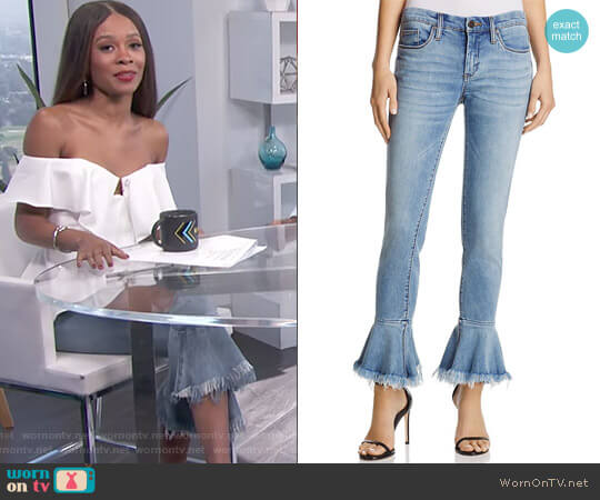 Flare-Cuff Jean by BlankNYC worn by Zuri Hall on E! News