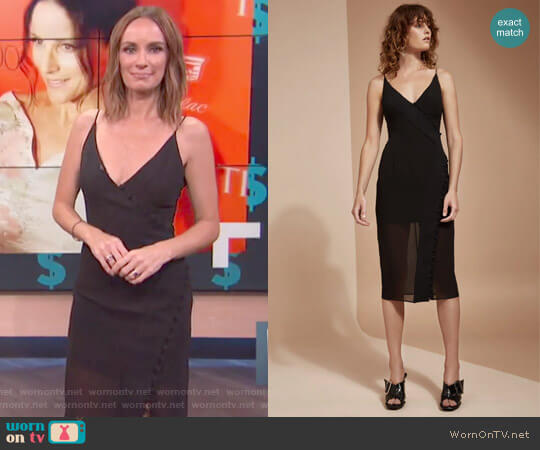 Presence Short Sleeve Dress by C/Meo Collective worn by Catt Sadler  on E! News