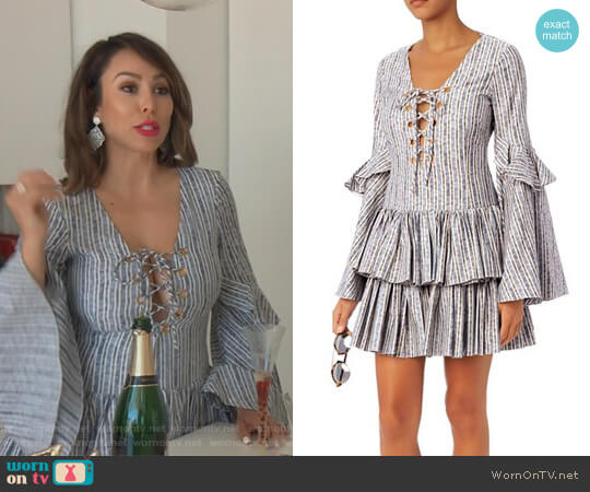 'Anastasia' Dress by Caroline Constas worn by Kelly Dodd on The Real Housewives of Orange County