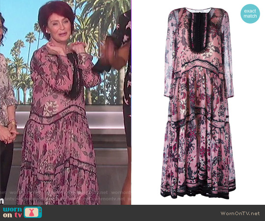 Floral Tiered Maxi Dress by Chloe worn by Sharon Osbourne on The Talk