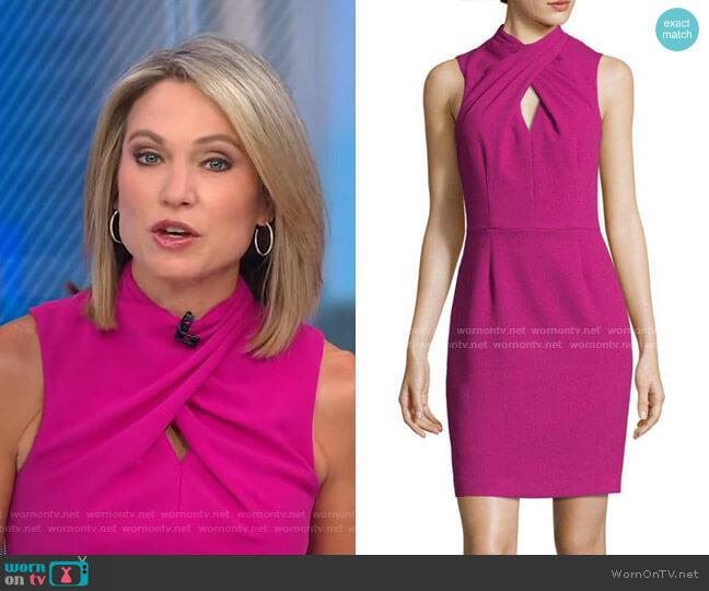 Contessa Keyhole Sheath Dress by Trina Turk worn by Amy Robach  on Good Morning America