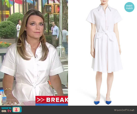 Cotton Shirtdress by Diane von Furstenberg worn by Savannah Guthrie on Today