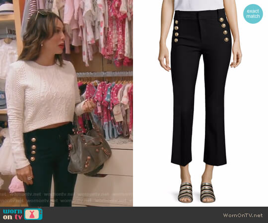 Cropped Flared Sailor Trousers by 10 Crosby by Derek Lam worn by Kelly Dodd on The Real Housewives of Orange County