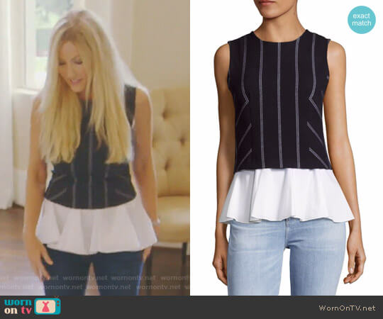 Ruffled Two-in-One Top by 10 Crosby Derek Lam worn by Stephanie Hollman on The Real Housewives of Dallas