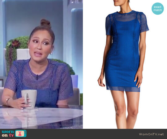 Chain Lace Dress by Diane von Furstenberg worn by Adrienne Houghton on The Real