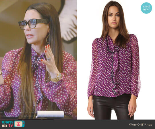 'Havanah' Tie Neck Blouse by Diane von Furstenberg worn by D'Andra Simmons on The Real Housewives of Dallas