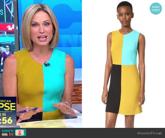 Mini Shift Dress by Diane von Furstenberg worn by Amy Robach on Good Morning America