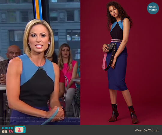 Tailored Midi Dress by Diane von Furstenberg worn by Amy Robach on Good Morning America