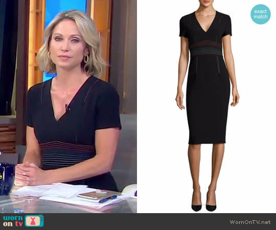 V-Neck Tailored Dress by Diane von Furstenberg worn by Amy Robach on Good Morning America