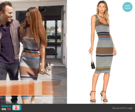 Knit Midi Dress by Diane von Furstenberg worn by Lydia McLaughlin on The Real Housewives of Orange County
