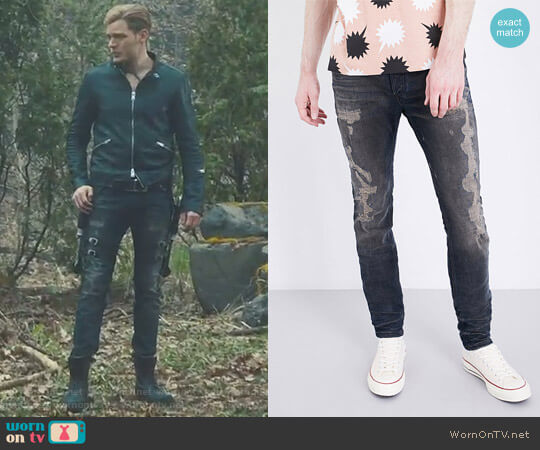 Sleenker 084DL Distressed Slim-Fit Skinny Jeans by Diesel worn by Jace Wayland on Shadowhunters