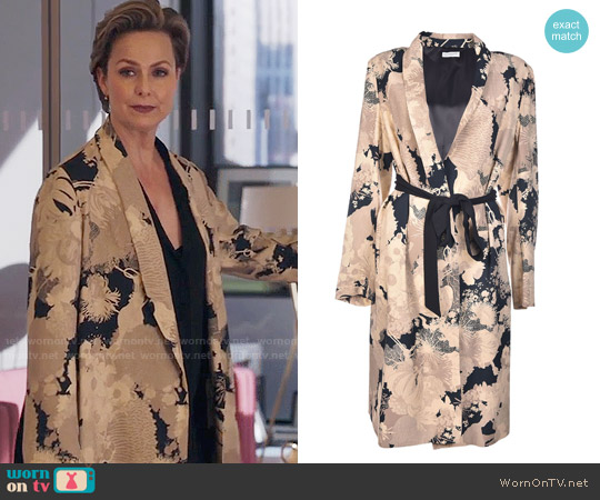 Dries van Noten Floral Print Coat worn by Jacqueline (Melora Hardin) on The Bold Type