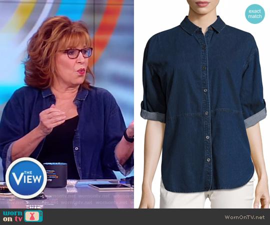Denim Top by Eileen Fisher worn by Joy Behar (Joy Behar) on The View