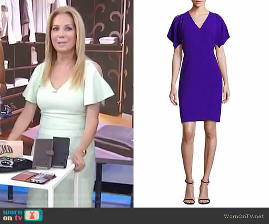 Lourdes Cold-Shoulder Dress by Elie Tahari worn by Kathie Lee Gifford on Today