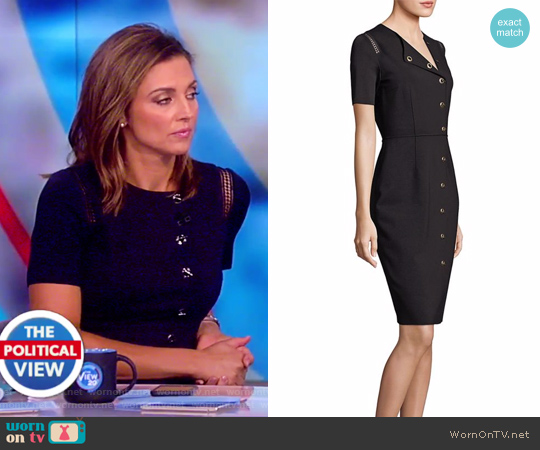 Tarina Toggle Sheath Dress by Elie Tahari worn by Paula Faris on The View