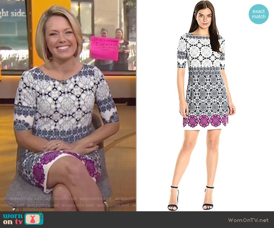 Medallion Print Shift Dress by Eliza J worn by Dylan Dreyer on Today