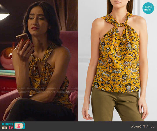 Etoile Isabel Marant Acan Top worn by Nikohl Boosheri on The Bold Type