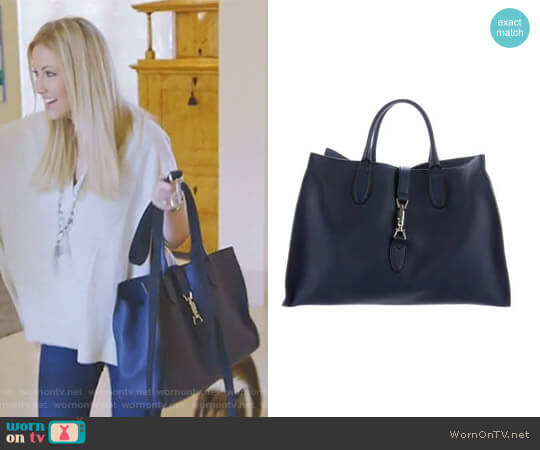 Jackie Soft Tote Bag by Gucci worn by Stephanie Hollman (Stephanie Hollman) on The Real Housewives of Dallas