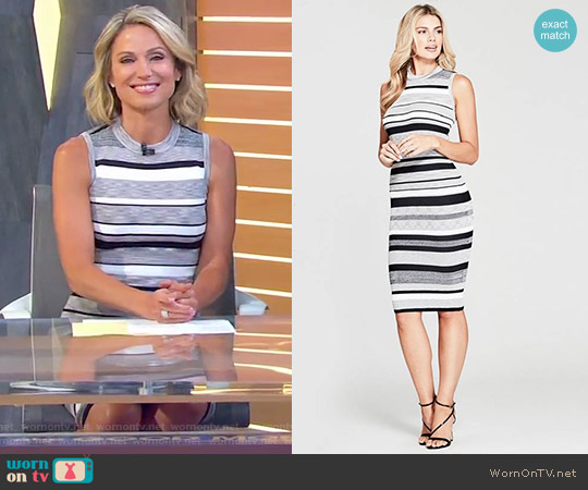 'Felice' Striped Sweater Dress by Marciano by Guess worn by Amy Robach on Good Morning America