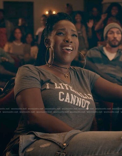 Joelle's I literally cannot t-shirt on Dear White People