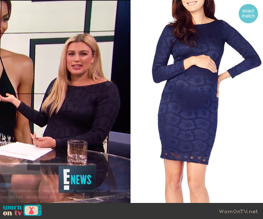Boatneck Lace Maternity Dress by Ingrid & Isabel worn by Carissa Loethen Culiner on E! News