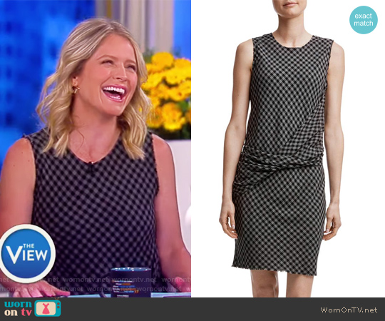 Twist Front Shift Dress by James Perse worn by Sara Haines on The View