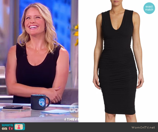 Sleeveless Ruched Sheath Dress by James Perse worn by Sara Haines  on The View