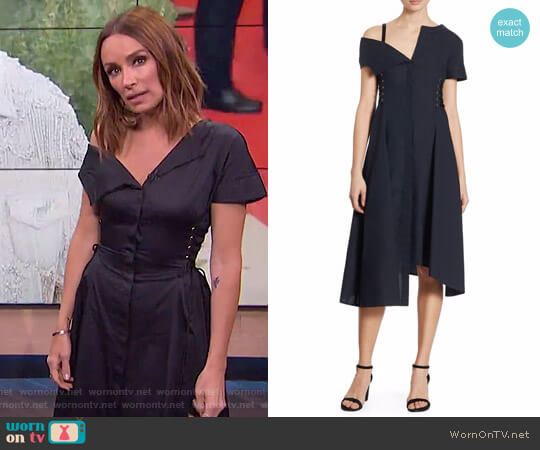 Asymmetrical Cotton Dress by Jason Wu worn by Catt Sadler on E! News