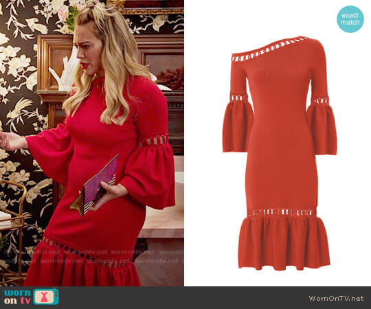 Jonathan Simkhai Chainlink Fit and Flare Dress worn by Hilary Duff on Younger